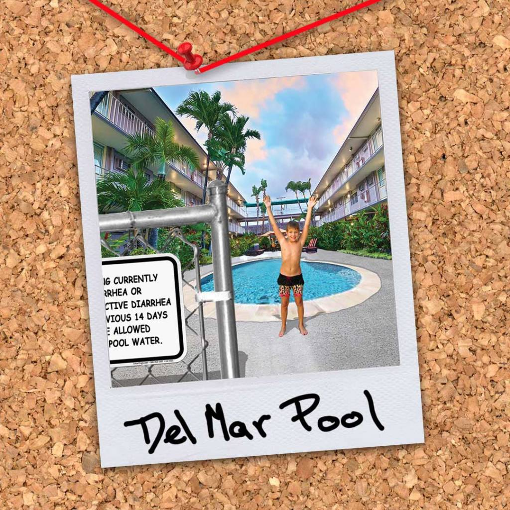 """Del Mar Pool from the novel """"Morningwood"""" by Perry V Wade."""