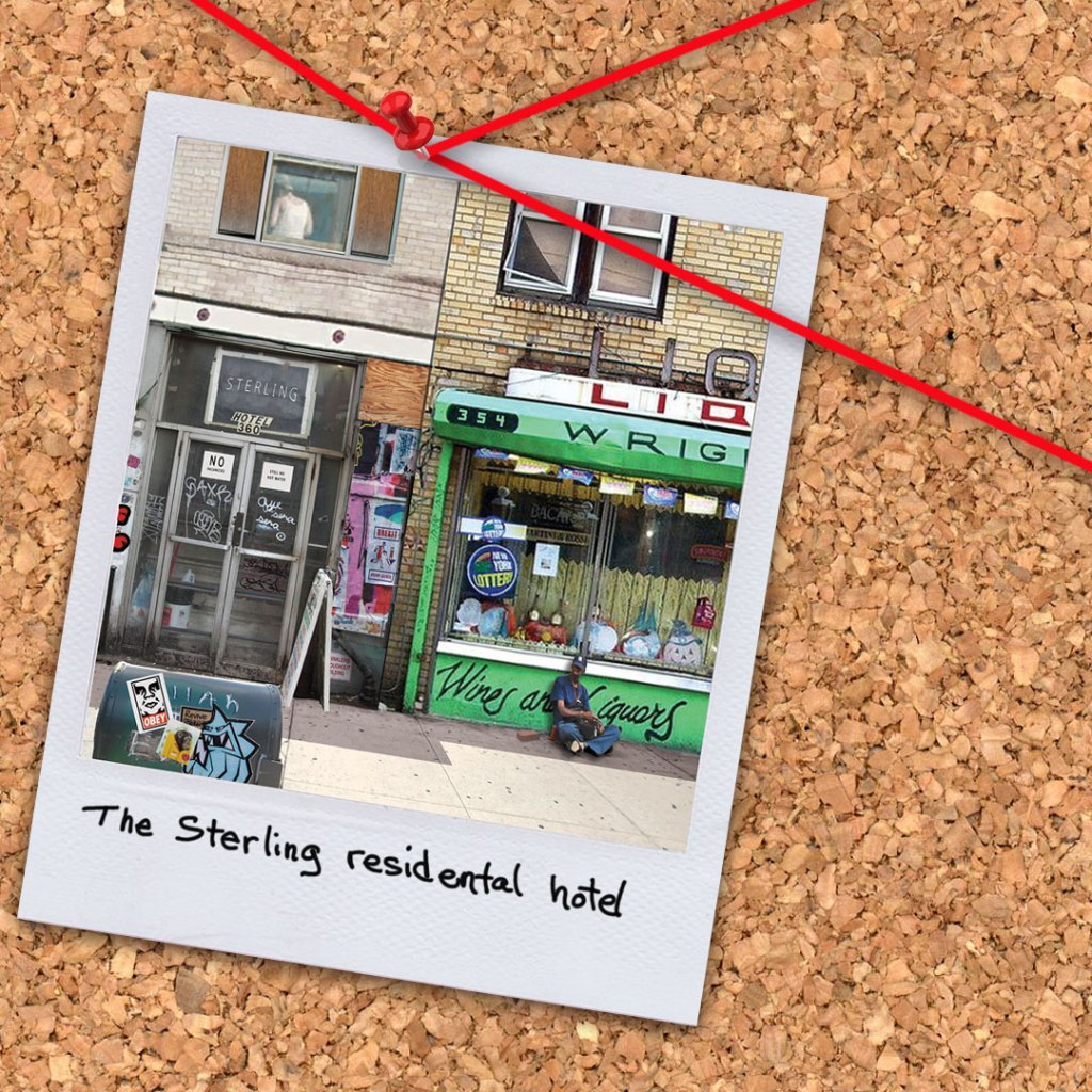 """The Sterling Residential Hotel from the novel """"Morningwood"""" by Perry V Wade."""