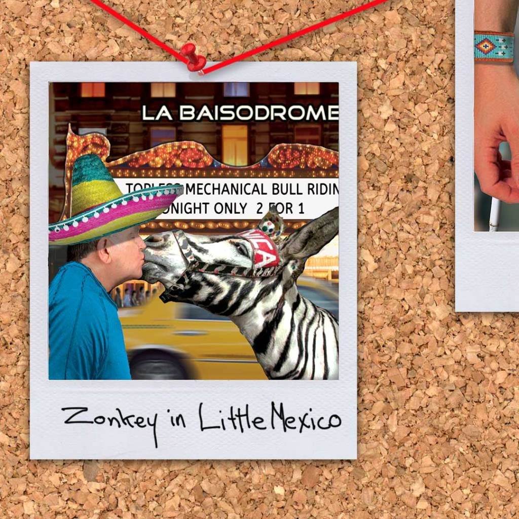 """Zonkey in Little Mexico from the novel """"Morningwood"""" by Perry V Wade."""